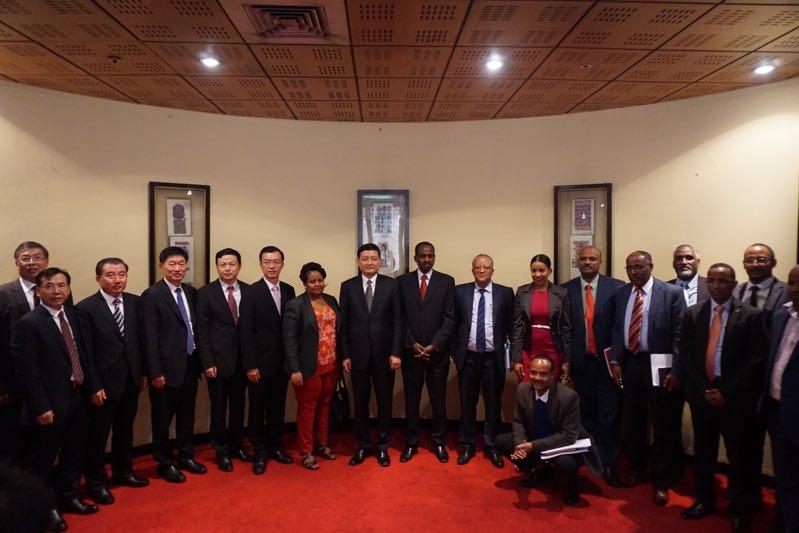 肖亚庆率团访问埃塞俄比亚