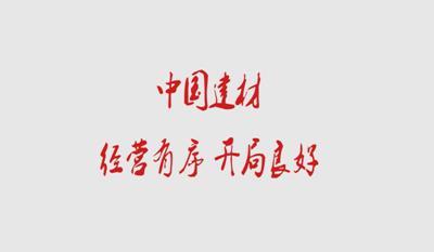 中国建材 经营有序 开局良好